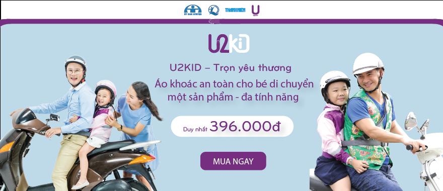 U2Kid - Áo khoác cho trẻ an toàn khi di chuyển.