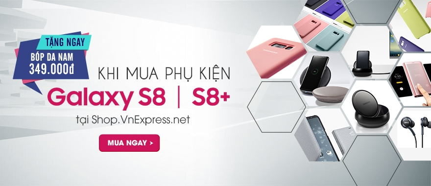 Tặng ngay bóp da nam giá 349k khi mua phụ kiện S8 I S8+