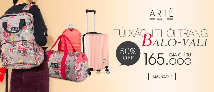 Balo vali thời trang giảm đến 50% giá chỉ từ 165.000đ.