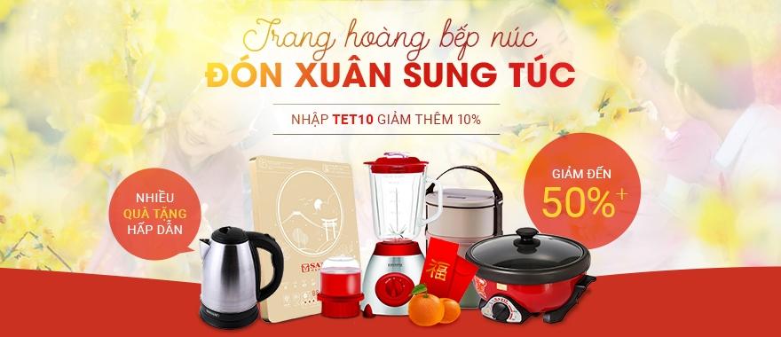 Trang hoàng bếp núc - Đón Xuân sung túc giảm đến 50%.