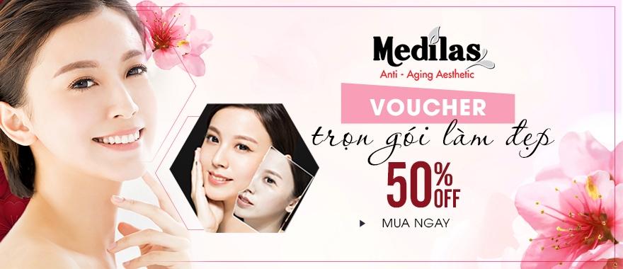 Voucher làm đẹp tại Medilas Clinic - Ưu đãi 50%