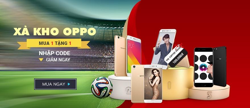Điện thoại OPPO chính hãng mua 1 tặng 1.