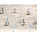 Combo 5m giấy decal cuộn họa tiết thuyền buồm DTL125