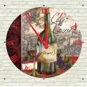 Đồng hồ gỗ chai rượu vang DHG05