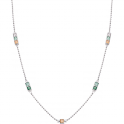 Dây cổ bạc PNJSilver Radiance of Joy mix đá Swarovski 92525.400