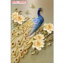 Tranh dán tường chim công SN55 (kích thước: 100x150cm)