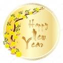 Decal dán tường Happy new year PK594