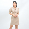 Váy đầm nữ công sở thời trang Eden phối nơ - D417