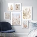 Bộ khung ảnh treo tường có kính hoa cỏ KA267-Tặng đinh 3 chân