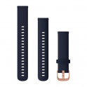 Dây thay thế Garmin Quick Release Band (18 mm), Navy Silicone with Rose Gold Hardware