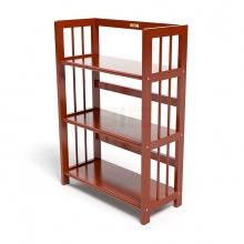 Kệ sách 3 tầng HB363 gỗ cao su màu cánh gián (63x30x90cm)