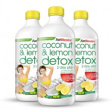 Combo 3 chai thức uống giải độc tố Naturopathica Fatblaster Coconut & Lemon Detox 750ml/chai