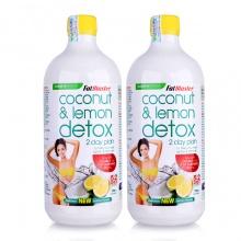 Combo 2 chai thức uống giải độc tố Naturopathica Fatblaster Coconut & Lemon Detox 750ml/chai