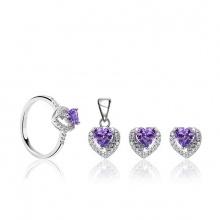 Bộ trang sức bạc Dari Love
