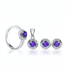 Bộ trang sức bạc Love Purple