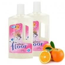 Bộ 2 chai lau sàn chống trơn trượt EZTEX® Floor Baby hương cam (1 lít/chai)