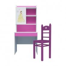 Bộ bàn học có giá sách hình công chúa 80cm