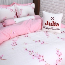 Bộ chăn ga gối 100% cotton sợi bông Hàn Quốc Julia (bộ 5 món có chăn chần gòn) 160x200x25 - 255BG16