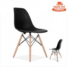 Ghế Eames chân gỗ DSW (đen )