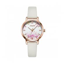 Đồng hồ nữ dây da Hàn Quốc Julius chính hãng JA-1102A ( Trắng )