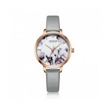 Đồng hồ nữ dây da Hàn Quốc Julius chính hãng JA-1101C ( Xám )