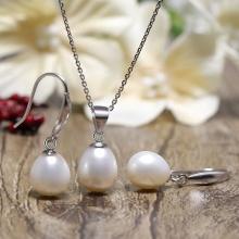 Bộ trang sức bạc ngọc trai Fasa 9-10mm