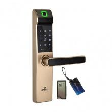 Khóa cửa vân tay thẻ mật mã điều khiển Baling NF21 (màu vàng hổ phách)