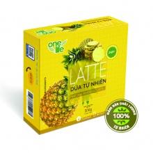 Trái cây sạch- Latte dứa (thơm) tự nhiên Onelife (Sinh tố dứa thơm) - Hộp 25 gói