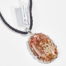 Mặt dây chuyền thạch anh ưu linh viền bạc (kiểm định) Ngọc Quý Gemstones
