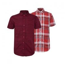 Bộ 2 áo sơ mi ngắn tay sọc caro thời trang SMC171