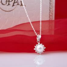 Opal - dây chuyền bạc kèm mặt bạc đính ngọc trai trắng T11
