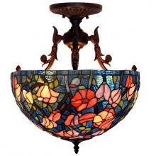 Đèn trần trang trí Tiffany chao 40 chân 45