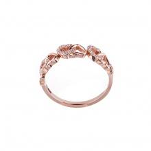 Nhẫn vàng hồng DOJI cao cấp 14K 0819R-LAL340