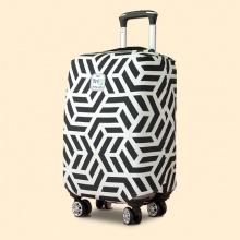 Áo trùm vali thun 4 chiều TRIP Geometric (đường viền) size L