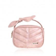 Túi nơ Verchini màu hồng xước 13001781