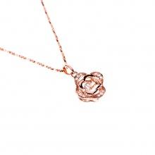 Mặt dây chuyền vàng hồng đính đá DOJI 14K 0819P-NAL631