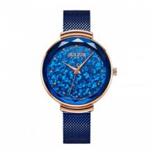Đồng hồ nữ dây kim loại chính hãng Julius Hàn Quốc JA-1189C xanh