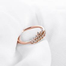 Nhẫn vàng hồng DOJI cao cấp 14K 0819R-LAL305