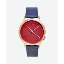 Đồng hồ thời trang unisex Erik von Sant 003.007.E mặt tròn kim phối ba màu dây da xanh 38mm