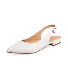 Giày nữ, giày cao gót slingback Erosska mũi nhọn cao 2cm thời trang kiểu dáng basic - EL001 (WH)