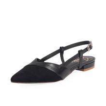 Giày nữ, giày cao gót kitten heel erosska da lộn mũi nhọn tinh tế - EL005 (BA)