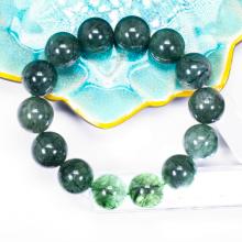 Vòng tay đá thạch anh tóc xanh 1 size hạt 15mm - Ngọc Quý Gemstones