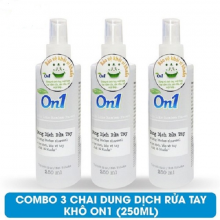 Combo 3 chai dung dịch rửa tay khô On1 250ml hương BamBoo Charcoal