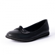Giày búp bê Erosska thời trang mũi tròn đính nơ xinh xắn EF004