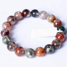 Vòng tay trơn đá thạch anh ưu linh đa sắc size hạt 10mm - Ngọc Quý Gemstones