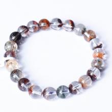 Vòng tay trơn đá thạch anh ưu linh đa sắc size hạt 9mm - Ngọc Quý Gemstones