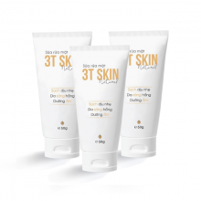 Combo 3 sữa rửa mặt thiên nhiên 3T Skin sạch dịu nhẹ, da sáng mịn, dưỡng ẩm (50gr)