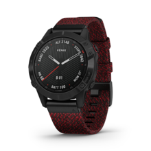 Đồng hồ thông minh theo dõi sức khỏe Garmin Fēnix 6 Sapphire  - Đỏ đen