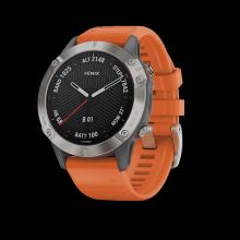 Đồng hồ thông minh theo dõi sức khỏe Garmin Fēnix 6 Sapphire  - Cam
