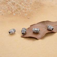 Charm chặn hạt hình ô liu lục tự đại minh chú - Ngọc Quý Gemstones